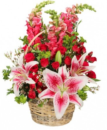 100% Lovable Basket of Flowers