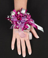 PURPLE PARADISE Prom Corsage in Peru, NY | APPLE BLOSSOM FLORIST