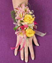 PASTEL POTPOURRI Prom Corsage in Asheville, NC | THE ENCHANTED FLORIST ASHEVILLE