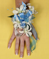 BLUE HEAVEN Prom Corsage in Peru, NY | APPLE BLOSSOM FLORIST