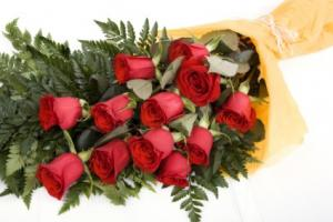 I Love You Roses 12 Long Stem Rose Bouquet in Abbotsford, BC | BUCKETS FRESH FLOWER MARKET