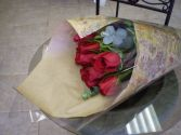 12 Red Roses Wrapped