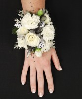 WHITE DELIGHT Prom Corsage in Prospect, CT | MARGOT'S FLOWERS & GIFTS