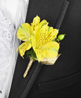 SPRING SUNSHINE Prom Boutonniere in Raleigh, NC | FALLS LAKE FLORIST