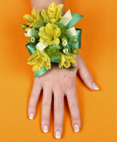 SPRING SUNSHINE Prom Corsage in Michigan City, IN | WRIGHT'S FLOWERS AND GIFTS INC.