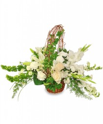 SERENITY Flower Basket in Holiday, FL | SKIP'S FLORIST & CHRISTMAS HOUSE