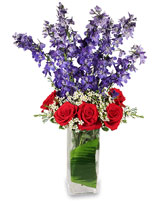 AMERICAN SPIRIT Arrangement in Calgary, AB | MISTY MEADOW FLOWERS