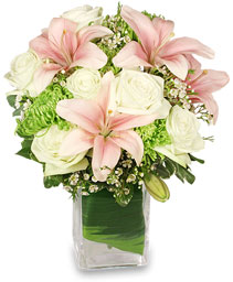HEAVENLY GARDEN BLOOMS Flower Arrangement in Eau Claire, WI | 4 SEASONS FLORIST INC.