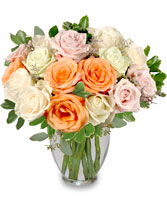 ALABASTER ROSES Arrangement in Bath, NY | VAN SCOTER FLORISTS