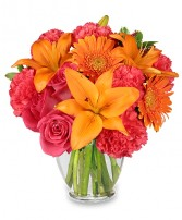FEELING HOT! HOT! HOT! Bouquet in Bath, NY | VAN SCOTER FLORISTS 