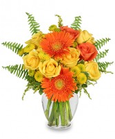 CITRUS ZEST Bouquet in Corona, CA | FLOWERS DEL SOL