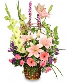 BASKET OF MEMORIES Floral Arrangement Best Seller