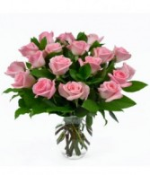 18 Light Pink Roses