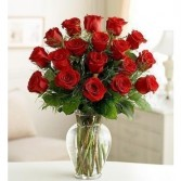 18 Premium Long Stem Red Roses Floral Arrangement
