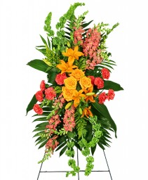 GLORIOUS LIFE Funeral Flowers in Michigan City, IN | WRIGHT'S FLOWERS AND GIFTS INC.