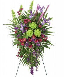 INSPIRATIONAL STYLE Funeral Flowers in Michigan City, IN | WRIGHT'S FLOWERS AND GIFTS INC.