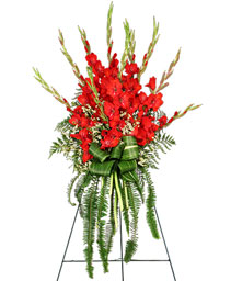 FOREVER FLAME Funeral Flowers in Red Wing, MN | HALLSTROM'S FLORIST & GREENHOUSES