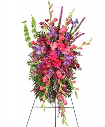 CHERISHED MEMORIES Standing Spray in Marion, IL | GARDEN GATE FLORIST