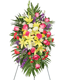 FONDEST FAREWELL Funeral Flowers in Michigan City, IN | WRIGHT'S FLOWERS AND GIFTS INC.