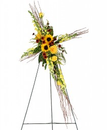 SUNFLOWERS OF FAITH Funeral Flowers in Deer Park, TX | BLOOMING CREATIONS FLOWERS & GIFTS