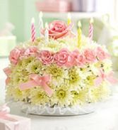 Happy Birthday Cake  fresh flower cake