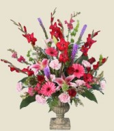 CLASSIC REMEMBRANCE URN of Funeral Flowers in Prospect, CT | MARGOT'S FLOWERS & GIFTS