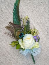 2010 Corsage Winner! Rose & Peacock Feather Corsage
