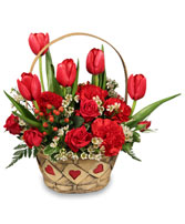 SWEET LOVE Basket Arrangement