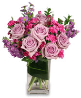 LAVENDER LUXURY Flower Arrangement in Lethbridge, AB | PANDA FLOWERS WEST LETHBRIDGE