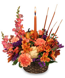 FRUITFUL FALL Basket Arrangement