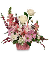 GARDEN SO SWEET Flower Basket in Bath, NY | VAN SCOTER FLORISTS 