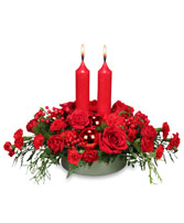 RICHLY CHRISTMAS Holiday Arrangement in Peru, NY | APPLE BLOSSOM FLORIST