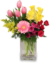 SPRING IS IN THE AIR Arrangement in Jasper, IN | WILSON FLOWERS, INC