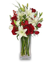 ALL IS MERRY & BRIGHT Holiday Bouquet in Peru, NY | APPLE BLOSSOM FLORIST