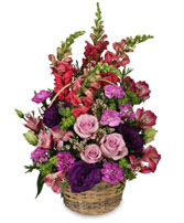 HOME SWEET HOME Flower Basket in Essex Junction, VT | CHANTILLY ROSE FLORIST