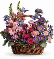 Country Basket  Blooms Spring