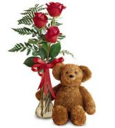 3 Roses and a Bear RR 1014