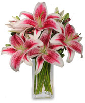 LUXURIOUS LILIES Bouquet in Michigan City, IN | WRIGHT'S FLOWERS AND GIFTS INC.