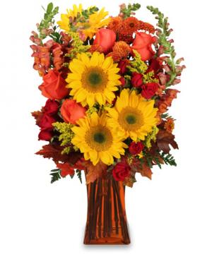 All Hail to Fall! Flower Arrangement in Waxahachie, TX | BLOOMS & MORE