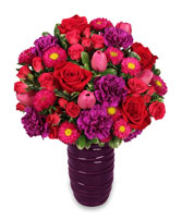FILLED WITH LOVE Flower Arrangement in Bath, NY | VAN SCOTER FLORISTS 