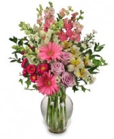 AMAZING MAY BOUQUET Mother's Day Flowers in Bath, NY | VAN SCOTER FLORISTS 
