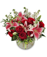 STARTS IN THE HEART Flower Arrangement in Detroit, MI | RED ROSE FLORIST 