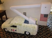 5 AND A HALF FOOT BUCKET TRUCK FUNERAL CUSTOM DESIGN