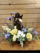 Add an angel statue to Any floral *info*