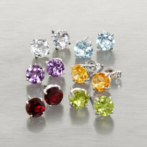 6-Piece Set Genuine Gemstone Sterling Silver Earri Item #WGJ212 in Bowerston, OH | LADY OF THE LAKE FLORAL & GIFTS