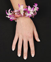 CHIC PINK ORCHID Prom Corsage in Brimfield, MA | GREEN THUMB FLORIST & GARDENS
