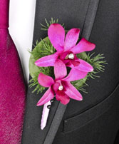 PURPLE PARADISE Prom Boutonniere in Polson, MT | DAWN'S FLOWER DESIGNS