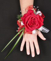 ROMANTIC RED ROSE Prom Corsage in Cut Bank, MT | ROSE PETAL FLORAL & GIFTS