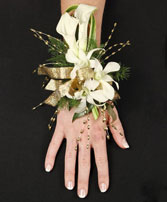 CLASSY CANDLELIGHT Prom Corsage in Manchester, NH | THE MANCHESTER FLOWER STUDIO