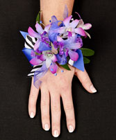 POSH PURPLE ORCHIDS Prom Corsage in Michigan City, IN | WRIGHT'S FLOWERS AND GIFTS INC.